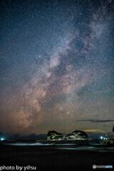 円月島の星空