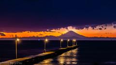 桟橋の夕景