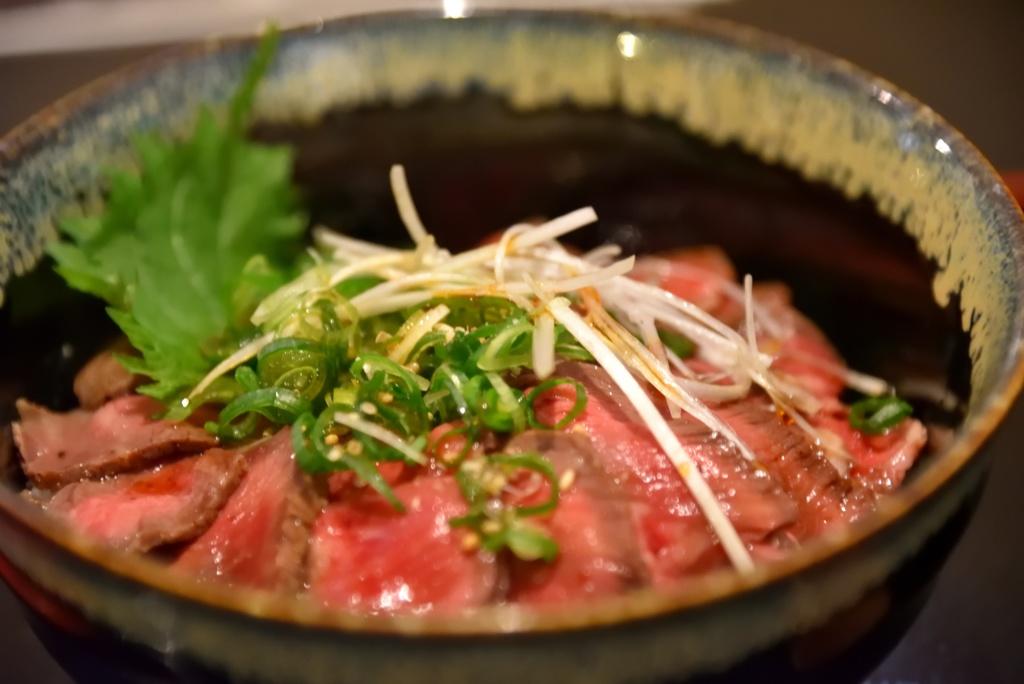 近江牛ローストビーフ丼