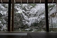 蓮華寺 庭園・雪景