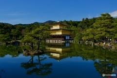 金閣寺 鏡湖池と舎利殿