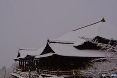 清水寺 舞台・雪景
