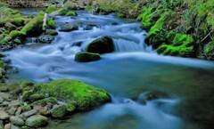新緑と川の流れ