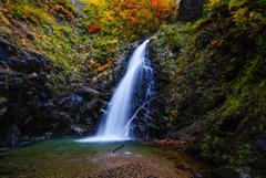 紅葉シーズン滝巡り8  暗門の滝 第三の滝