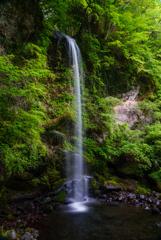 夕日の滝1