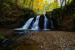 紅葉シーズン滝巡り5  御堂新田の滝