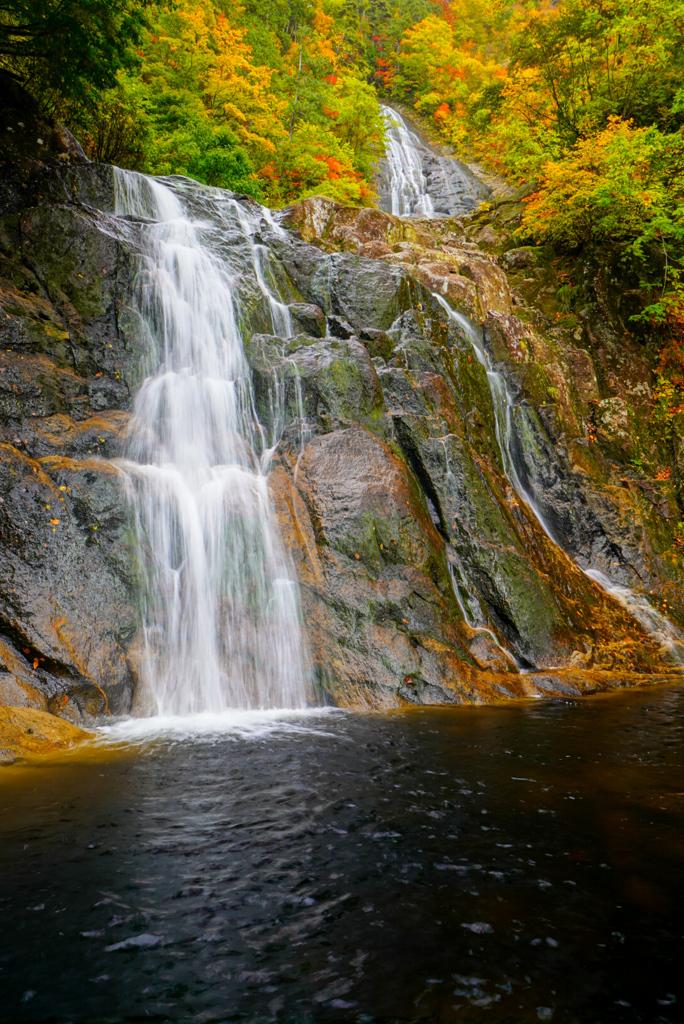 二の滝上段と幸兵衛滝
