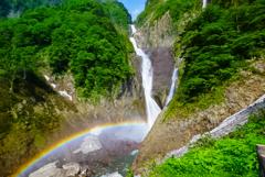 虹の称名滝  2