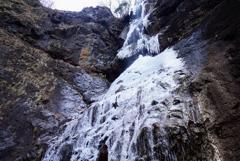 氷瀑巡り1   麻苧の滝