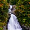 錦秋の法体の滝