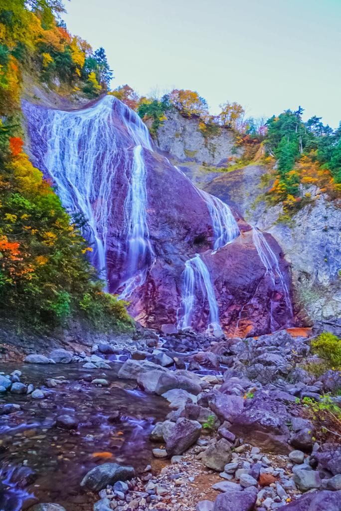 紅葉の滑川大滝  2