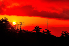 山の落日-Ⅰ