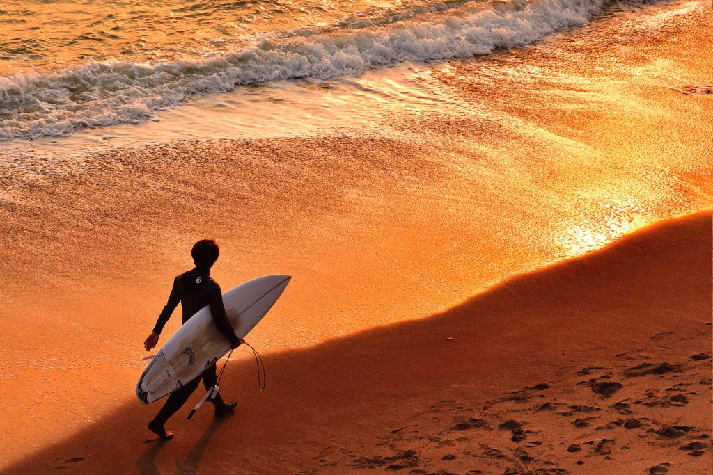 夕焼けの浜