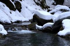 冬の渓谷-Ⅲ