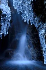 厳冬の滝ー3