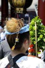 ほおずき市「風鈴髪飾り」