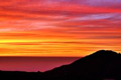 立山の夕焼け