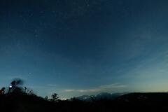 xマウントで撮る、闇に浮かぶマウント富士