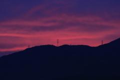 紫陽花色の夕空