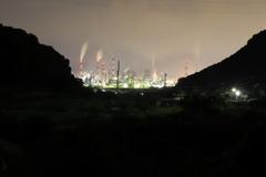田園と工場夜景