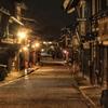 奈良井宿夜景