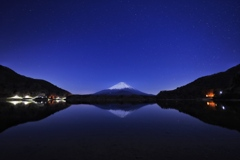 富士五湖夜景  (精進湖)