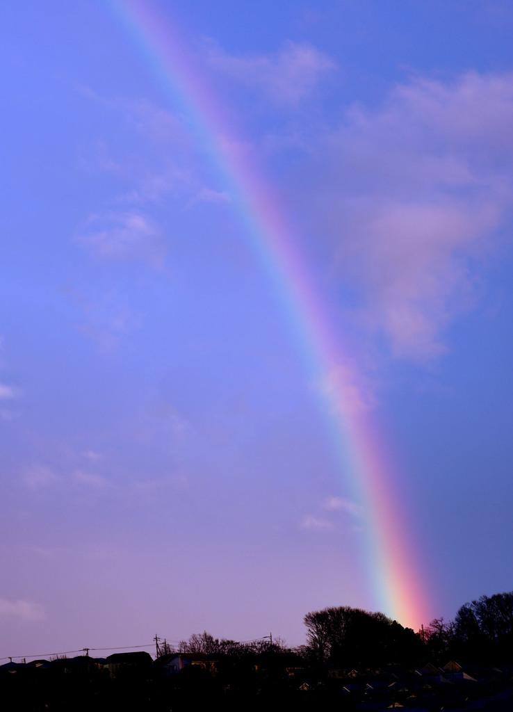 嵐の後ー虹のアーチ