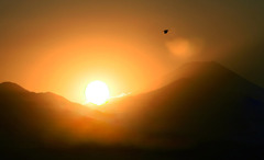 沈みゆく太陽に・・祈る