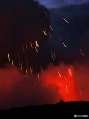 ヤスール火山、山頂ーバヌアツ