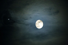 今月の月 木星を連れて