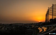 高台からの夕景