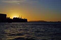 博多港からの夕景