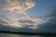 荒川河畔より(足立区の風景)