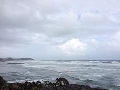 台風はすぐそこ