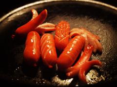 赤いウインナー