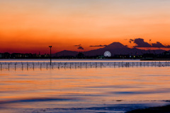 黄昏の東京湾