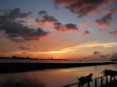 台湾 淡水の夕焼け