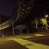 真夜中の歩道橋
