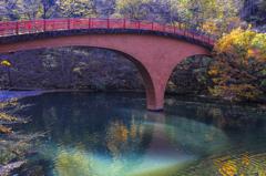紅葉のほほえみ橋