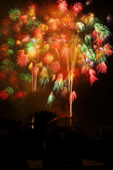 雨の花火大会
