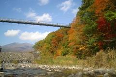 やまびこ吊り橋の紅葉
