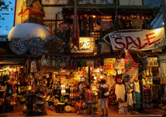 夕暮れの雑貨屋