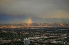 砂漠で見た虹