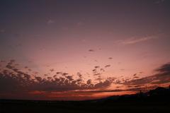 一面の夕焼け空