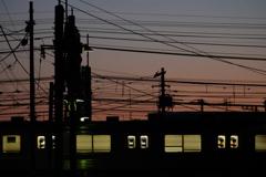 武蔵野線の夕景