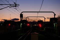 久しぶりに見たきれいな夕空