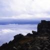 五丈岩は雲海の上