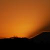 富士の見える夕景
