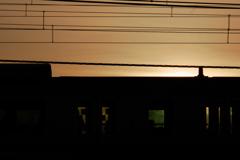 電車の夕景