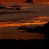 夕陽に輝く雲